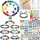 7 Chakra Healing Beaded Natural Lava Stone Bracelet Diffuser Bangle Lucky Gift