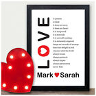 PERSONALISED Love Is Patient Corinthians 13 Wedding Poem Gifts 1st Anniversary