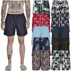 Urban Classics Pattern Swim Shorts Palm Flamingo Floral Badehose Badeshort Crazy