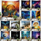 Psychedelic Forest Trees Stars Starry Sky Fabric Wall Tapestry Decor Polyester