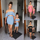US Family Matching Outfits Mother and Daughter Clothes Dress Girls Ruffle Shirt