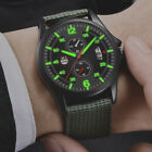 Men's Military Stainless Steel Waterproof Date Quartz Analog Army Wrist Watches image