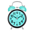 Alarm Clock Silent Analog No Ticking Twin Bell Backlight Loud Wake Old Fashioned