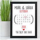 Day You Were Married PERSONALISED Wedding Date Gifts for Bride Groom Mr & Mrs