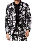 INC International Concepts Men's Slim-Fit Floral Print Blazer Black