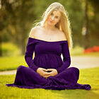 Women Maternity Pregnancy Long Maxi Dress Ball Gown Lace Dress Photography Prop