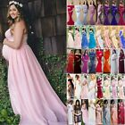 Women Maternity Pregnancy Long Maxi Dress Ball Gown Lace Dress Photography Prop $14.24 USD on eBay