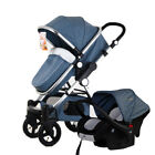 3 in 1 Baby Stroller High View Pram Foldable Baby Pushchair Bassinet&Car Seat