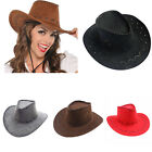 Men's Women's Wild West Fancy Cowgirl Cowboy Old West Hat Western Headwear Caps