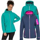 Trespass Landry Womens DLX Waterproof Softshell Jacket in Navy & Green