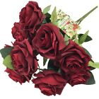 10 Open Roses ~ MANY COLORS ~ Bridal Bouquets Centerpieces Silk Wedding Flowers