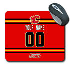 NHL Calgary flames Personalized Name/Number Mouse Pad 162405 $14.99 USD on eBay