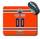 NHL Edmonton Oilers Personalized Name/Number Mouse Pad 162107 $12.99 USD on eBay