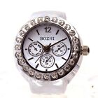 Ring Watch Fashion Stainless Steel Round Quartz Finger Ring Watch Lady Girl Gift