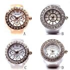 Ring Watch Fashion Stainless Steel Round Quartz Finger Ring Watch Lady Girl Gift image