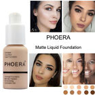 PHOERA Foundation Full Coverage Concealer Makeup Matte Brighten long lasting UK