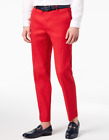 INC International Concepts Men's Linen Stretch Slim-Fit Pants Licorice Red 30x30