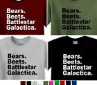 Bears Beets Battlestar Galactica T-Shirt THE OFFICE