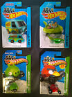 Lot of 4 Hot Wheels (Scooby-Doo, Jetsons, Angry Brids Minion, Red Bird)