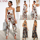 Womens Floral Sleeveless Bodycon Playsuit Party Beach Jumpsuit Romper Trousers