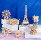 7 Different 3D Wooden Puzzle Adult DIY Educational Assembly Puzzle Model Kit