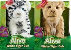 WowWee Alive White Tiger Cub Alive Lion Cub Alive Cub Interactive Plush Cub NEW