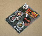Rage Bandit Badges Button Pin Set PlayStation 3 PS3 Xbox 360