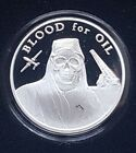 SILVER SHIELD 1oz SILVER PROOF BLOOD FOR OIL from Death of the Dollar series