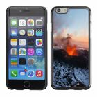 Hard Phone Case Cover Skin For Apple iPhone Volcano eruption under snow