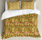 Paisley Pattern Duvet Cover Set Twin Queen King Sizes with Pillow Shams image