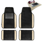 4pcs Universal Carpet Floor Mats Car SUV Van 10 Color Options Full Set w/ Gift