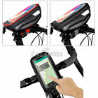Cycling Frame Pannier Front Tube Bag Bicycle Bike Touch Screen For Cell Phone