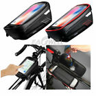 Waterproof Cycling Bike Bicycle Front Frame Pannier Tube Phone Bag Touch screen