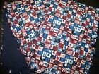 "CLEARANCE! Handmade Baby ""Rag"" Burp Cloths Set of 2 - Red, White & Blue"