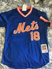 New York Mets Strawberry #18 Mesh Batting Practice Jersey Royal Throwback Mens on Ebay