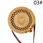 TOP Straw Bag Summer Beach Rattan Shoulder Bags Wicker Weave Handbag Crossbody