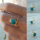 Womens 18k Gold Plated Turquoise Ring Retro Wedding Party Jewelry Rings Gifts