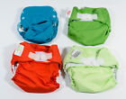Lot of 4 Assorted GroVia Flip Bumgenuis Reusable One Size Baby Cloth Diapers *