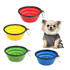 Portable Collapsible Puppy Dog Slow Down Eating Feeder Dish Food Water Bowl