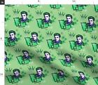 Elvis Atomic Retro 1950S Elvis Presley Icon Fabric Printed by Spoonflower BTY