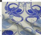 Octopus Nautical Blue Tentacles Nautilus Fabric Printed by Spoonflower BTY