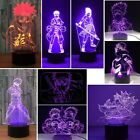 3D Naruto Anime Night Light 7 Color Change LED Desk Lamp Touch Room Decor Gift