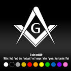 "6"" Masonic Emblem Freemason Bumper Car Window Diecut Vinyl Decal sticker"