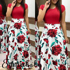 Fashion Women's Floral Long Maxi Dress Cocktail Party Summer Beach Sundress USA