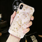 Shining Glitter Phone Case For iPhone XS Max XR 8 7 6S Plus Marble Silicon Cover