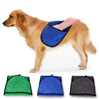 Absorbent Dog Drying Towel Microfiber Bath Towel with Hand Pockets for Pet