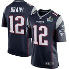 Mens New England Patriots Tom Brady #12 Navy Blue Super Bowl Jersey Choose Size on eBay