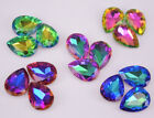 50 pcs Crystal Glass Rhinestones Tear drop Color Faceted Beads Jewelrys DIY