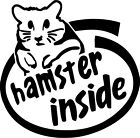 Hamster Inside Style B Vinyl Sticker Decal  - Choose Size & Color