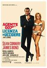 James Bond: * Dr. No * Sean Connery Italian Art Silk Poster 12x18 24x36 $13.26 CAD on eBay